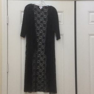 LuLaRoe Shirley Long Black Lace Coverup